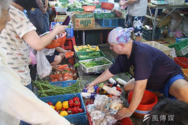 行政院主計總處今(5)日下午公布2017年6月物價指數,其中蔬菜類受豪雨影響,比5月時大漲30.35%。(資料照,陳明仁攝)