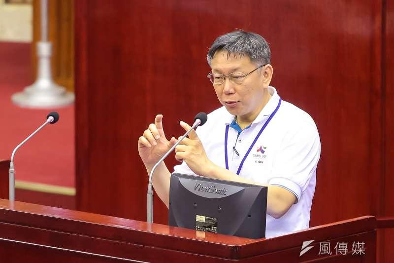 20170606-台北市長柯文哲6日於台北市議會備詢。(顏麟宇攝)