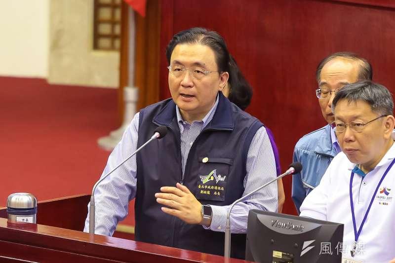 20170606-台北市環保局長劉銘龍6日於台北市議會備詢。(顏麟宇攝)
