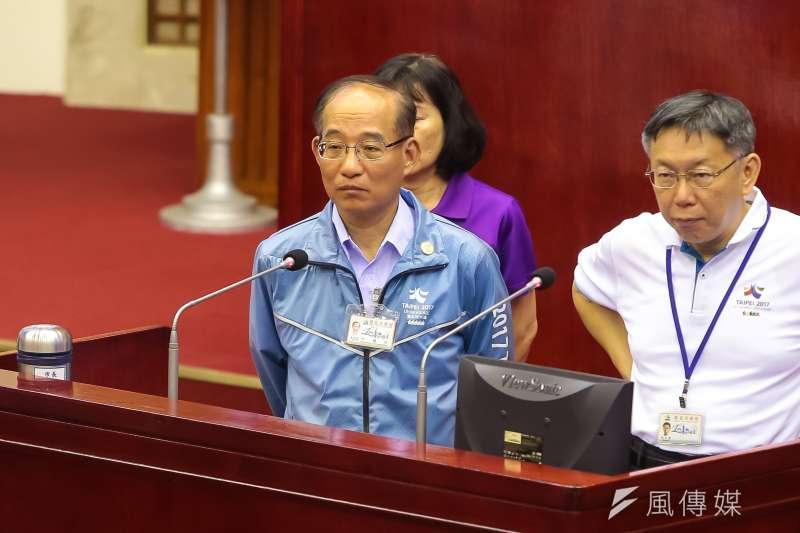 20170606-台北市交通局長張哲揚6日於台北市議會備詢。(顏麟宇攝)