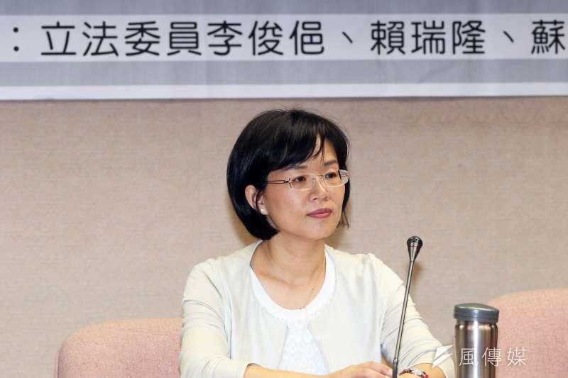 蘇巧慧28日表示,她跟父親意見本就不一定會相符,也有跟父親聊過,但共同主張是憲法應該要修正,要改最重要。 (資料照,蘇仲泓攝)