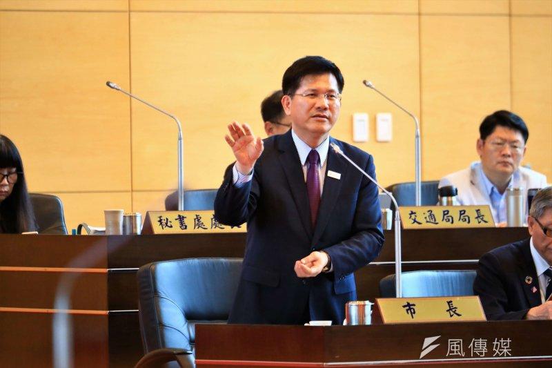 在「親中愛台」風潮下,台中市長林佳龍喊出「知中」,同時也不排除親自登陸宣傳明年在台中舉辦的花博。(圖/諸葛志一攝)