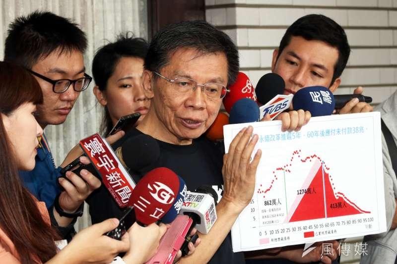 前立委沈富雄在臉書批台灣不分區制度成怪胎,並嘲諷國會議長由總統欽定,駭人聽聞。(資料照,蘇仲泓攝)
