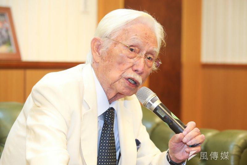 新台灣和平基金會董事長辜寬敏舉行「巴拿馬斷交台灣的因應態度」記者會。(陳明仁攝)