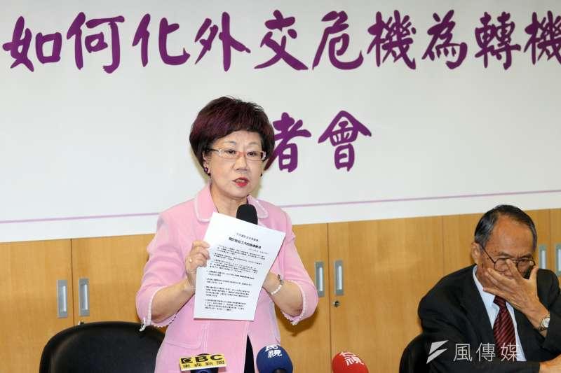 前副總統呂秀蓮今(19)日表示前瞻讓人期望高,失望多,政府應與民眾做更多溝通。(資料照,蘇仲泓攝)