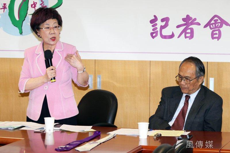 前副總統呂秀蓮重砲批評總統蔡英文。(資料照片,蘇仲泓攝)