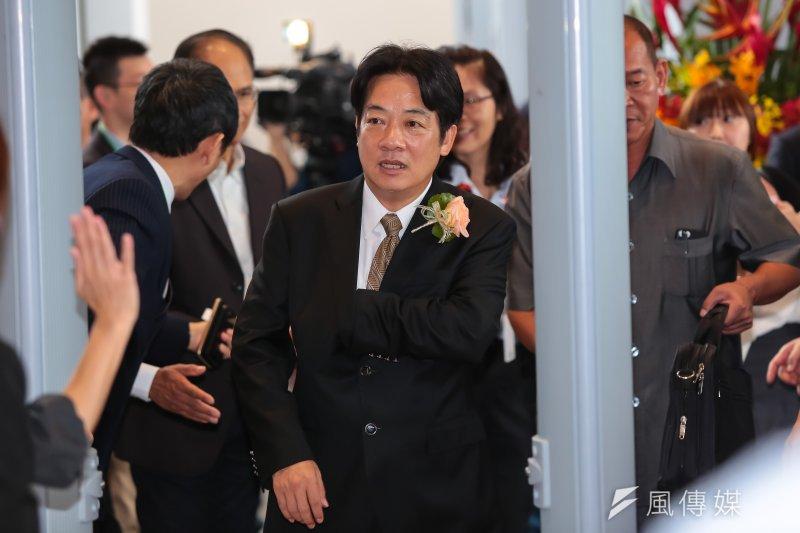 台南市長賴清德動向備受矚目,但已有游錫堃及許信良兩位民進黨大老,呼籲他參選新北市長。(資料照片,顏麟宇攝)