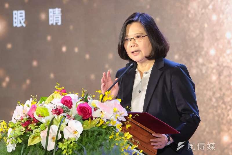 總統蔡英文16日出席「民視20周年系列活動」,要台灣人的電視台挺台灣人的政府跟總統(顏麟宇攝)