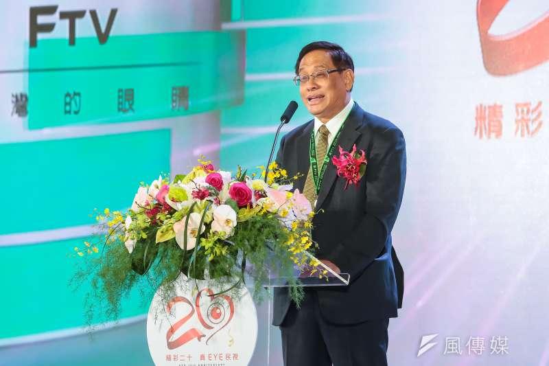 民視董事長郭倍宏今(9)日出席協商,以「萬分遺憾」回應NCC開罰。(顏麟宇攝)