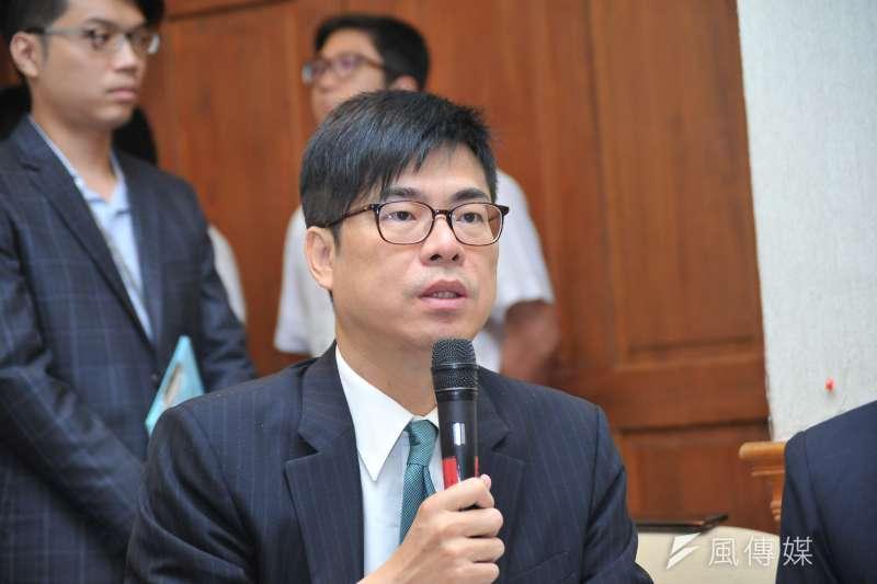 民進黨立委陳其邁評論三中案。(資料照片,甘岱民攝)