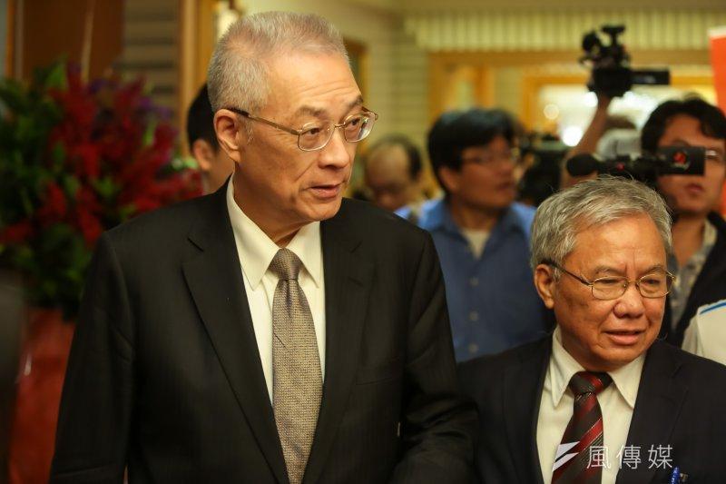 國民黨黨主席當選人吳敦義在謝票餐會時表示,堅持「一個中國」 原則,才能確保中華民國的尊嚴。(資料照,顏麟宇攝)