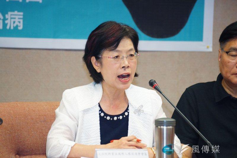20170629-立即釋放劉曉波、保障自由就醫權記者會,尤美女發言。(盧逸峰攝)