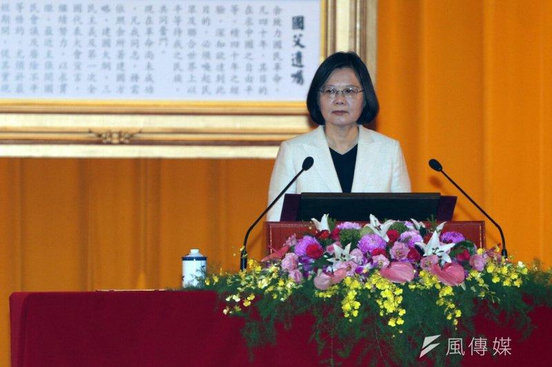 總統蔡英文上午主持三軍六校院聯合畢業典禮。(蘇仲泓攝)
