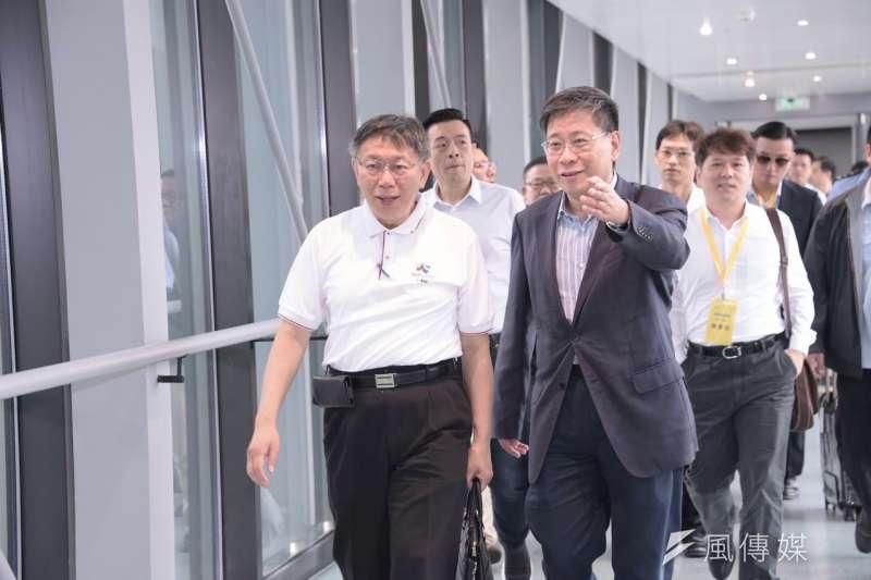 上海市台辦主任李文輝(右)上海市台辦主任原擬在春節過後抵台,但日前遭陸委會組成的聯審會審查不通過。(資料照,北市府提供)