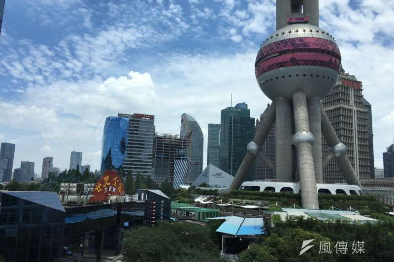 上海浦東東方明珠廣播電視塔。(王彥喬攝)