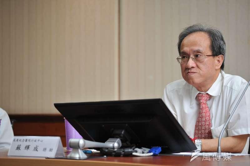20170703-長庚記者會,長庚紀念醫院行政中心特助蘇輝成。(甘岱民攝)