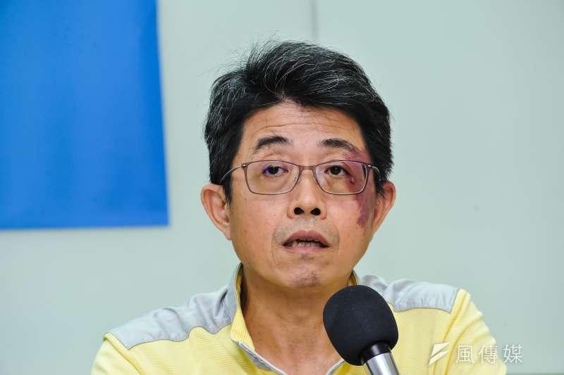 20170703-台灣世代智庫記者會,淡江大學運輸管理系教授張勝雄。(甘岱民攝)