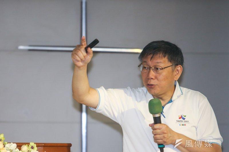 台北市長柯文哲今(28)日上午在交通會報時,對仰德大道常常發生車禍怒批:「就是擺爛!」。(資料照,陳明仁攝)