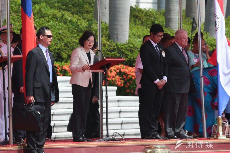 2017-07-12-總統府軍禮迎接巴拉圭總統卡提斯,蔡英文致詞-顏麟宇攝