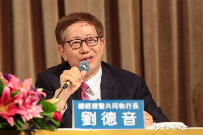 台積電總經理暨共同執行長劉德音13日出席「台積電2017年第二季法說會」。(顏麟宇攝)