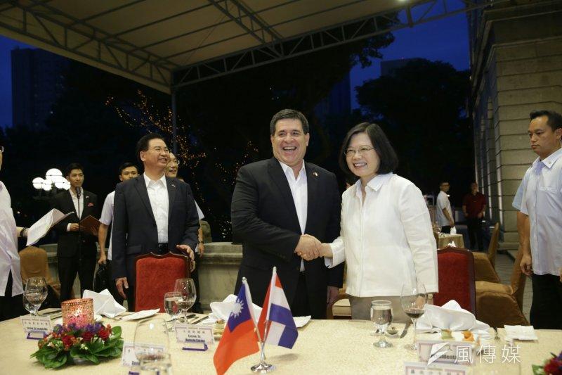 巴拉圭卡提斯總統訪台,兩國簽訂經濟合作協定,但牛肉在那裡?(總統府提供)