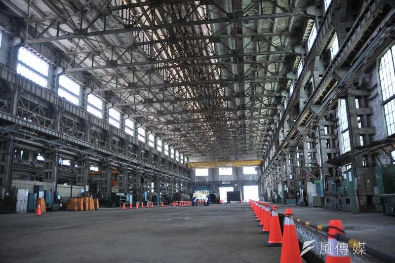 20170714-台北機廠開放參觀古蹟修復與保存的完整過程,圖中為組立工廠。(甘岱民攝)