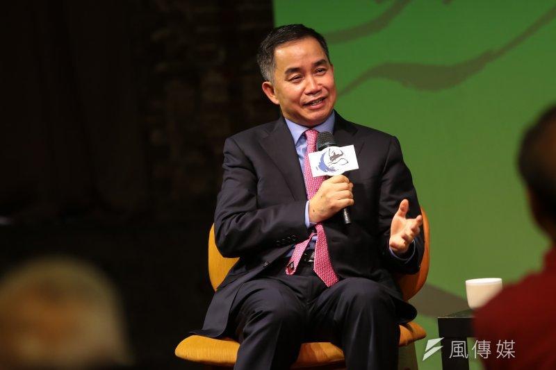 香港大學亞洲環球研究所所長陳志武22日出席思沙龍「大國崛起中的小民幸福─藏在文化變遷後面的金融邏輯」座談。(顏麟宇攝)