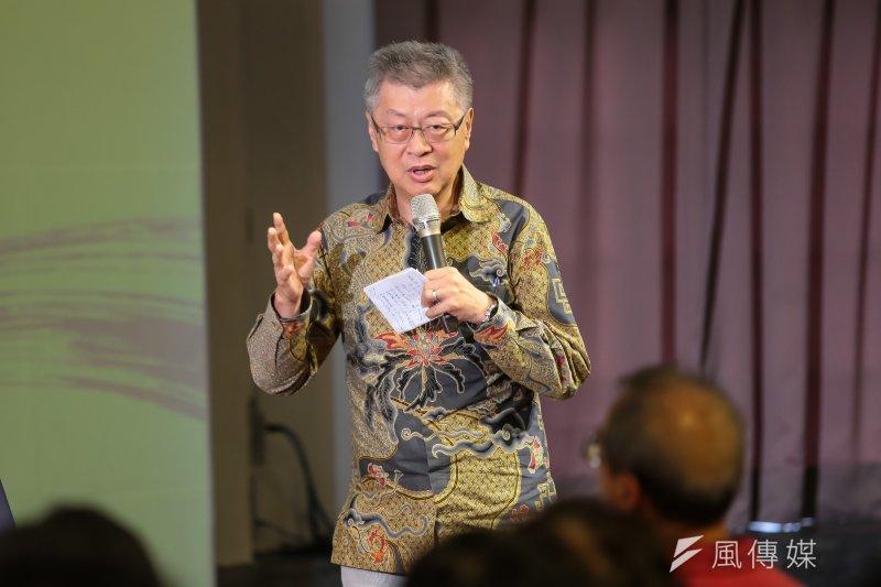 前行政院長陳冲22日出席思沙龍「大國崛起中的小民幸福─藏在文化變遷後面的金融邏輯」座談。(顏麟宇攝)