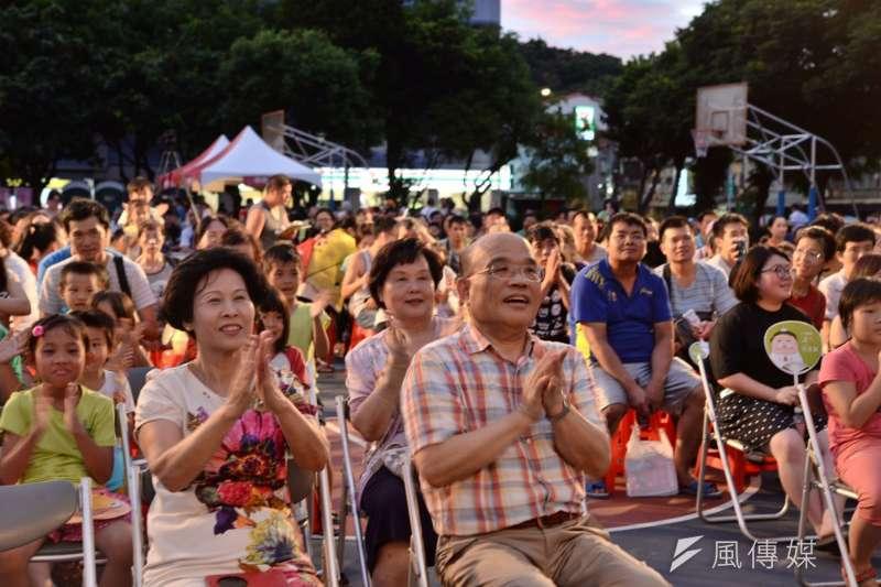 前行政院長蘇貞昌表示,黨中央要用最大的誠意請台南市長賴清德市長來參選,「但如果賴市長不來選,深耕20年的吳秉叡,就是很適合的人選。」(蘇巧慧辦公室提供)