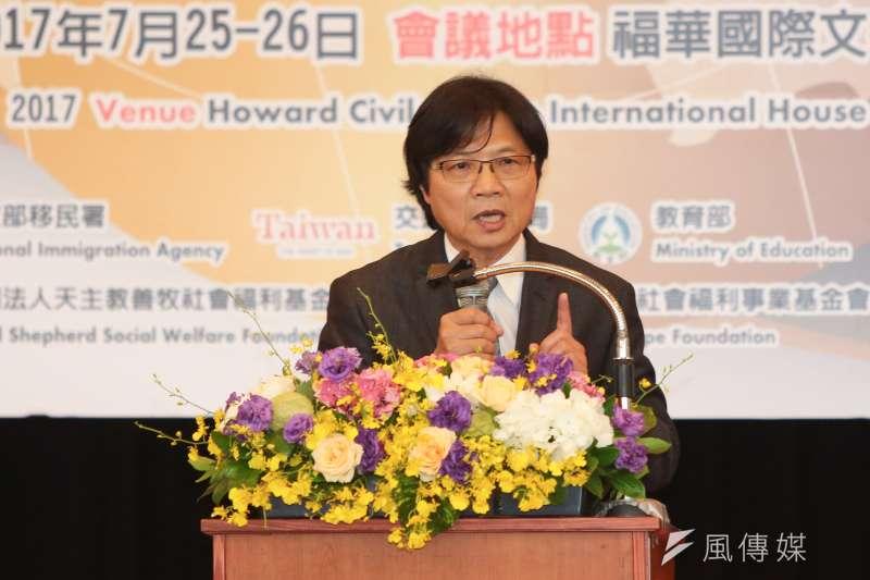 20170725-內政部長葉俊榮25日出席「2017年防制人口販運國際工作坊」開幕活動。(顏麟宇攝)