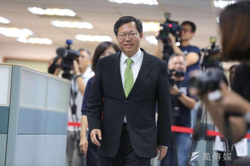桃園市長鄭文燦27日裁定,婉拒中央贈送的兩座游泳池。(資料照,顏麟宇攝)