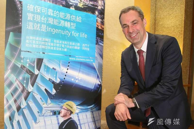 西門子董事會成員耐吉強調,自己首次造訪台灣,就對台灣的能源轉型決心印象深刻,相信會有更多能源智慧化的潛力。(陳明仁攝)