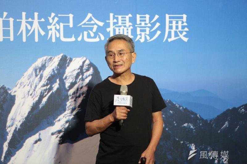 20170727-雲門創辦人林懷民27日出席「飛閱台灣-齊柏林紀念攝影展」開幕記者會。(顏麟宇攝)