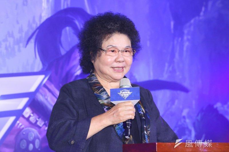 高雄市長陳菊說,「我也一樣很擔心啊」,宜蘭在台灣民主發展過程扮演重要角色,「希望我的故鄉宜蘭加油」。(資料照,陳明仁攝)