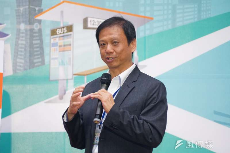 20170727-台北市無人車實驗計畫記者會,台北市資訊局長李維斌說明計畫內容。(盧逸峰攝)