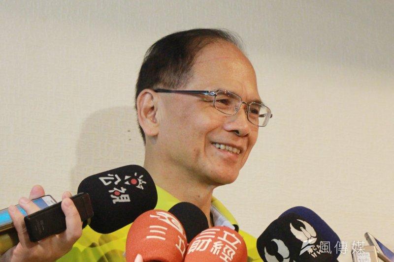 前行政院長游錫堃正式宣布不參選新北市長選戰,並建議黨中央徵召台南市長賴清德參選。 (方炳超攝)