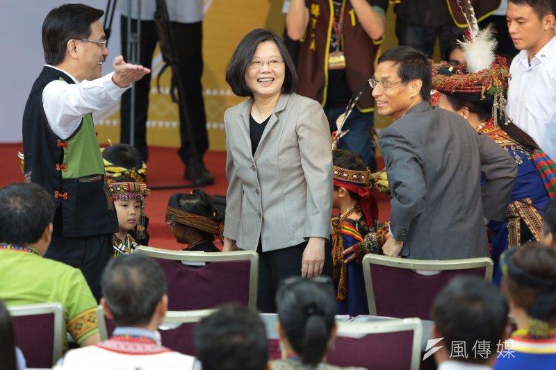 總統蔡英文1日出席「全國原住民族行政會議」。(顏麟宇攝)