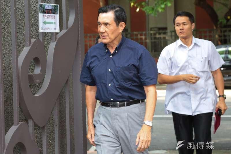 民進黨因為前總統陳水扁貪污,想方設去百案齊告,非要給馬英九安上相同罪名,不過,所有舉發馬的案子,都沒有一毛錢流入馬英九的口袋。(顏麟宇攝)
