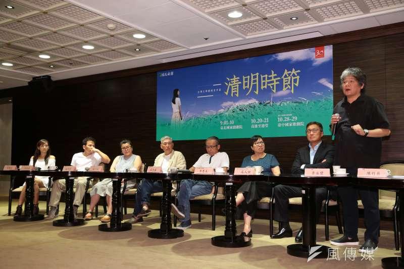 20170808-綠光劇團製作人李永豐8日出席台灣文學劇場首部曲「清明時節」記者會。(顏麟宇攝)