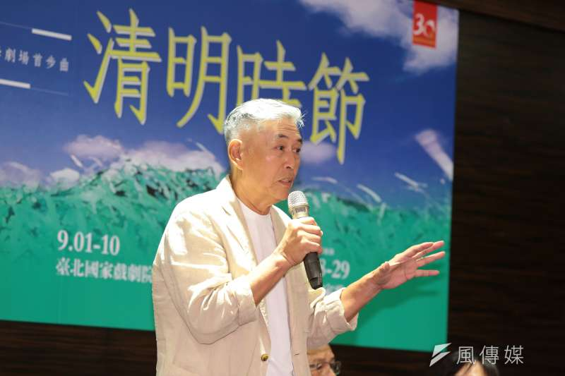 20170808-柯一正導演8日出席台灣文學劇場首部曲「清明時節」記者會。(顏麟宇攝)