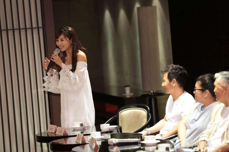 20170808-演員張靜之8日出席台灣文學劇場首部曲「清明時節」記者會。(顏麟宇攝)