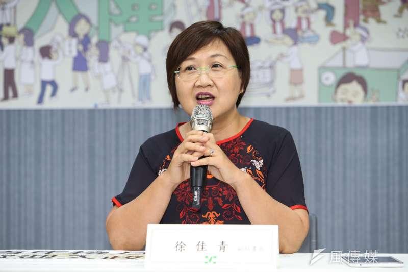 針對台北市民政局長藍世聰支持台北市長柯文哲一事,民主進步黨副秘書長徐佳青表示,目前為止沒有違反黨紀的問題,所有人都有言論自由表達看法,不可能因為這樣開除黨籍。(資料照,陳明仁攝)