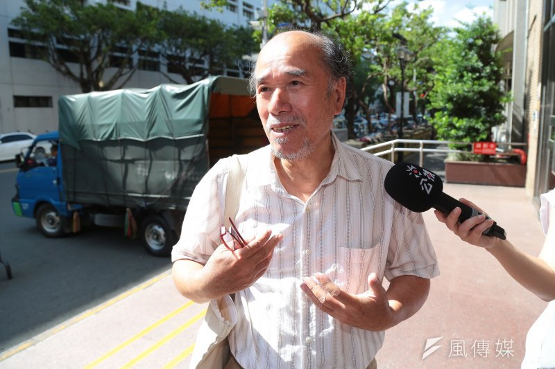 自由台灣黨主席蔡丁貴10日因太陽花學運占領立法院案,至高等法院開庭。(顏麟宇攝)