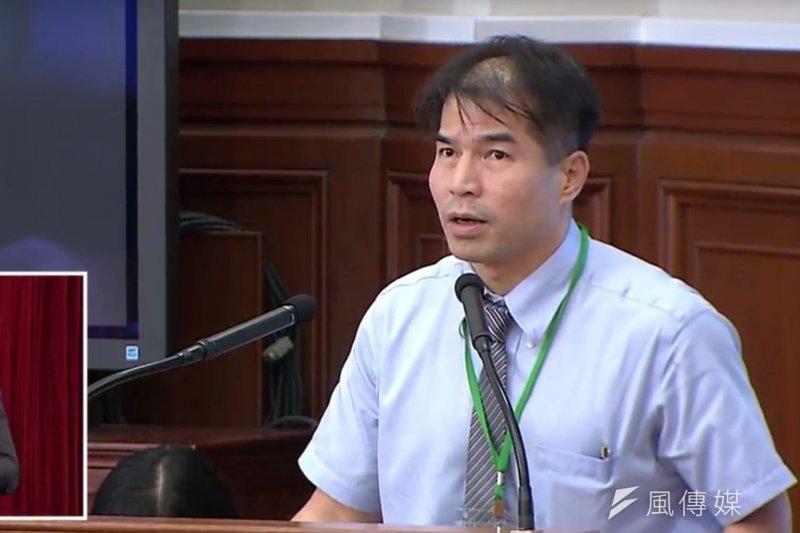 律師陳重言出席總結會議,他重回國是會議的一個理由是要「確保」檢察官身份在分組會議未被定位為「行政官」的結論不被翻案。(取自總統府司法改革國是會議總結會議直播)