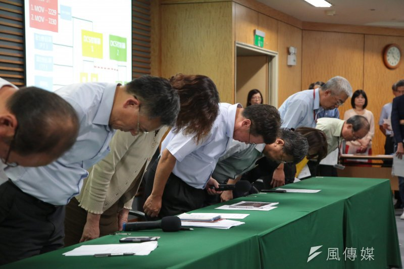 中油董事長陳金德16日針對大潭電廠供氣暫停導致停電事件率高階主管致歉,兩天後請辭。(顏麟宇攝)