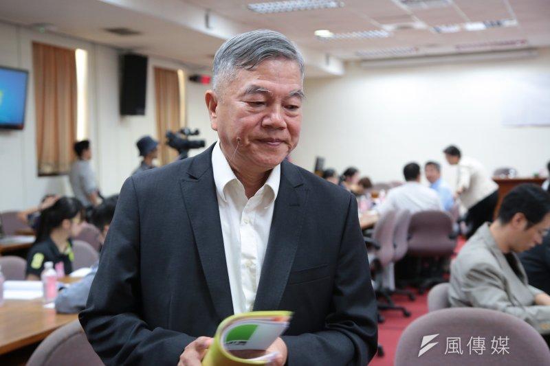 20170816-經濟部代理部長沈榮津16日出席立院公聽會。(顏麟宇攝)
