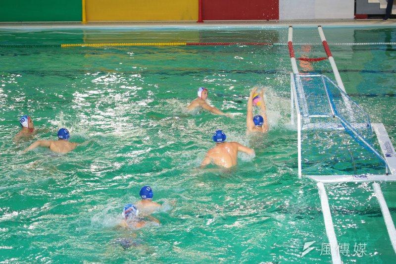 20170818-世大運中華男子水球隊18日首戰韓國隊。(顏麟宇攝)