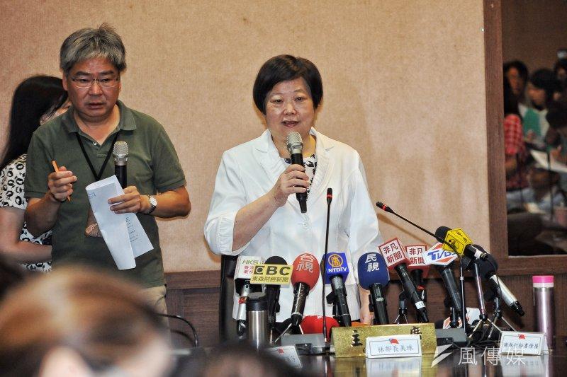 基本工資審議委員會,勞動部部長林美珠強勢通過22K 基本工資案。(甘岱民攝)