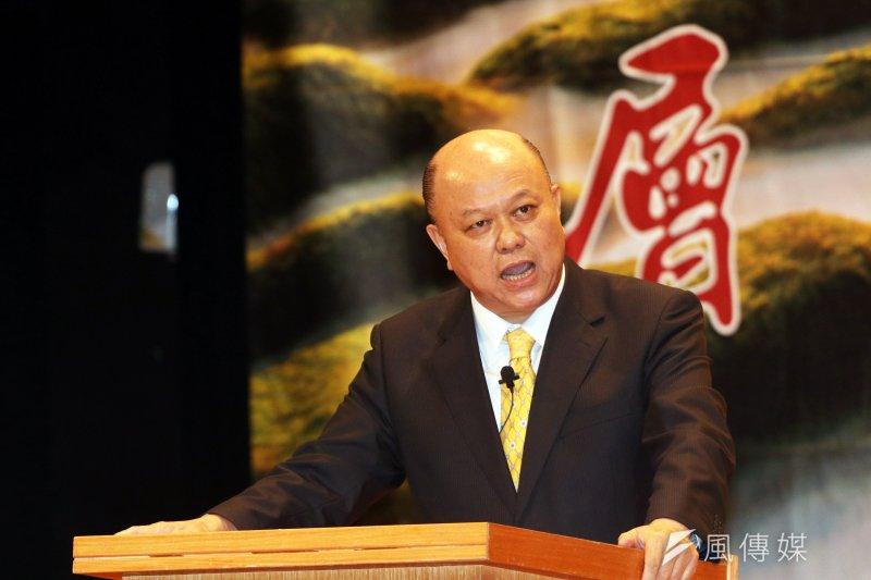 20170820-新黨下午舉行第24屆黨慶,新黨副主席李勝峰上臺發表未來新黨的路線和方向。(蘇仲泓攝)