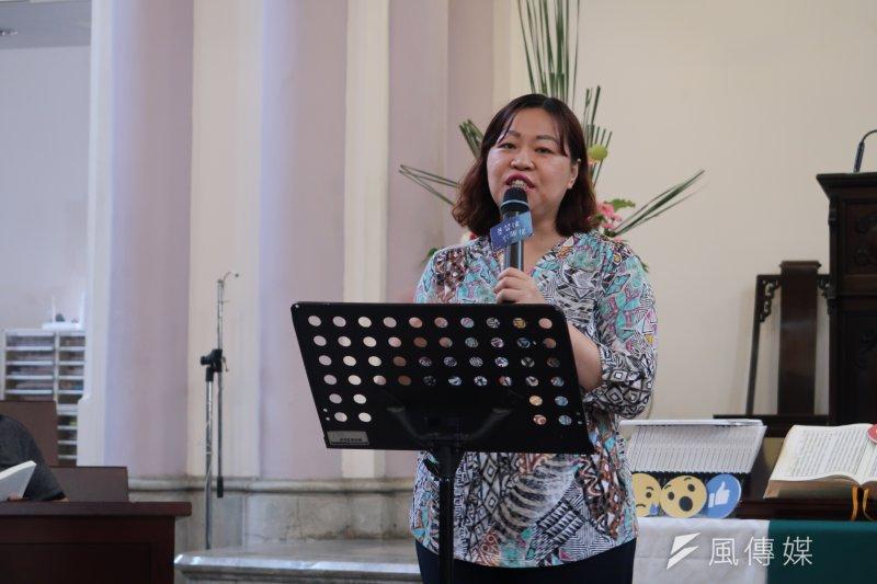 台灣少年權益與福利促進聯盟秘書長葉大華希望破除社會對弱勢的隱形壓迫。(朱冠諭 攝)